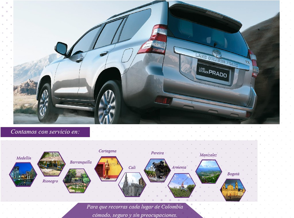 Portafolio de servicios Evolution rent a car