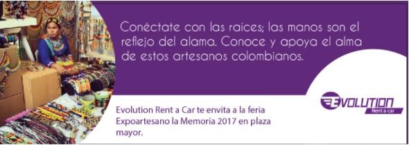 Renta de carros en Medellin Colombia, Expoartesanos 2017
