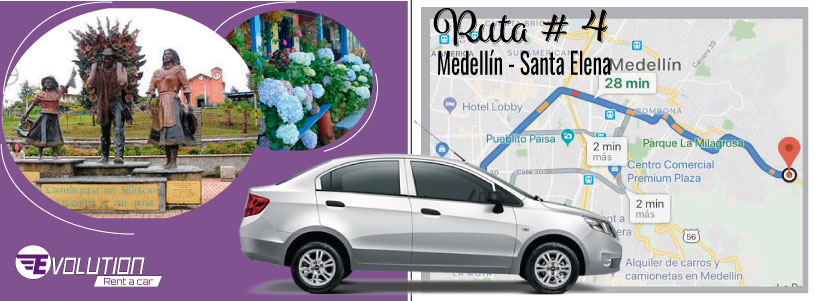 Ruta 4 Medellín -Santa Elena Pueblo de silleteros
