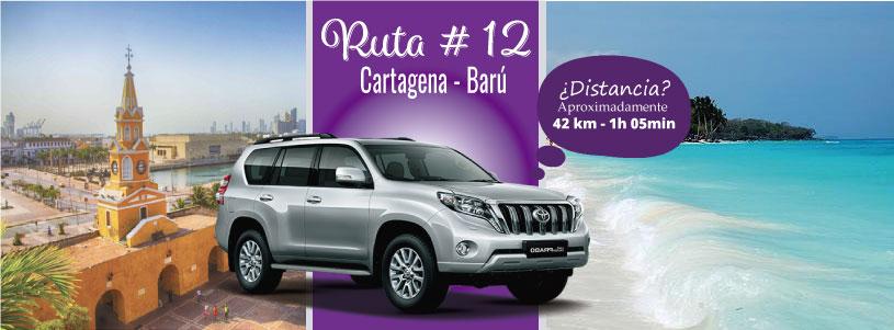Ruta 12 Cartagena – Barú playa, brisa y mar
