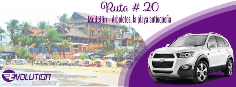 Ruta 20 Medellín – Arboletes, la playa Antioqueña