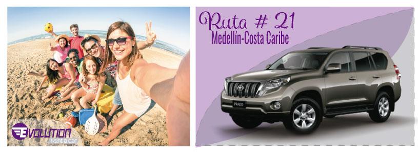 Ruta 21 Medellín - Costa Caribe