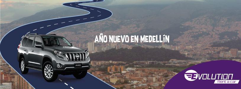 Año nuevo en Medellin con Evolution Rent a car
