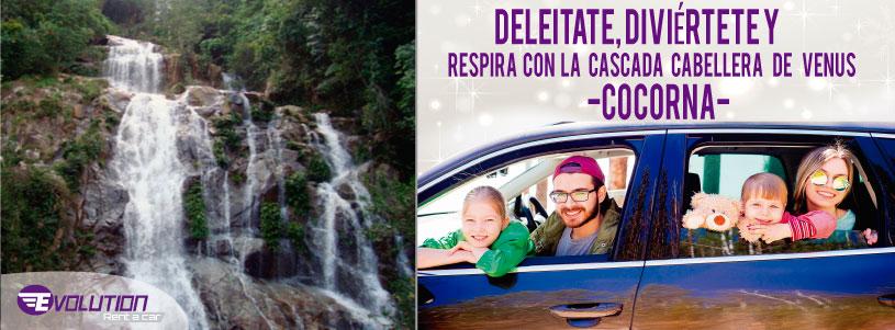 Visita la Cascada Cabellera de Venus con Evolution Rent a car Rionegro