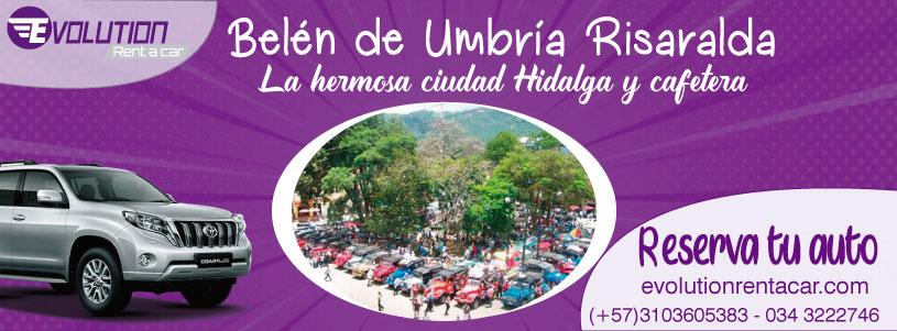 Renta de carros y camionetas en Pereira - Visita Belén de Umbria