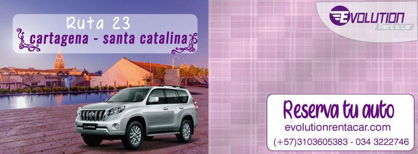 Ruta 28 Cartagena- Santa Catalina de Alejandría - Renta de carros en Cartagena