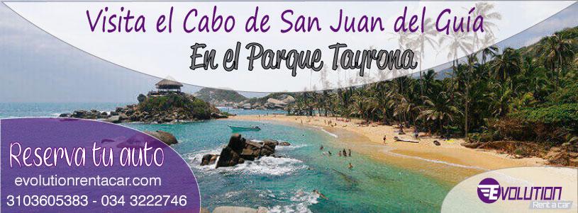 Visita el Cabo de San Juan del Guía con Evolution Rent A Car Renta de carros en Santa Marta