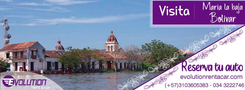 Visita Maria la Baja con Renta de carros en Cartagena