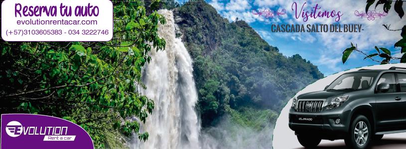 Cascada Salto del Buey- Renta de vehículos en Rionegro