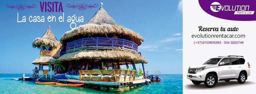 Visita la Casa en el Agua con Alquiler de carros en Cartagena