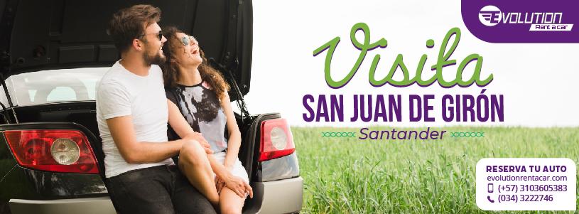 Visita San Juan de Girón con Alquiler de carros en Barranquilla