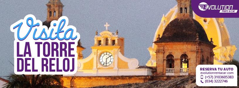 Conoce La Torre del Reloj con Renta de Carros en Cartagena